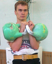 Valentin Egorov. Training with kettkebells 24 kg