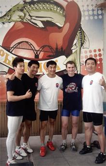 Korean kettlebell team training camp in Rybinsk